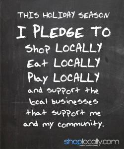 The Shop Local Pledge