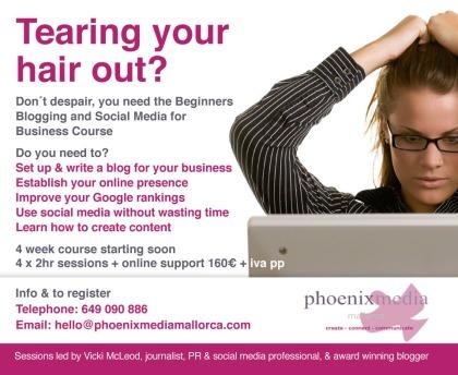 Vicki McLeod Blogging Mallorca Social Media
