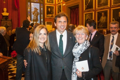 From left, Senator Gari Dural, Mayor of Palma Mateu Isern, and President of the EPORE Kate Mentink.