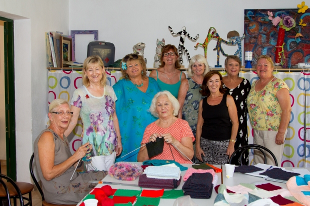 Knitting group, Mallorca