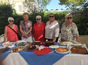 The Cala Nova Cancer Care gang and their wares (2)